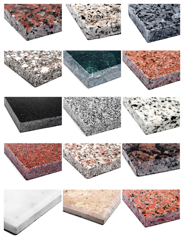Granite samples l m granite and marble for Tipos de marmoles y granitos